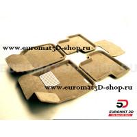 Текстильные 3D коврики Euromat3D Lux в салон для Audi Q8 (2018-) № EM3D-001108T Бежевые