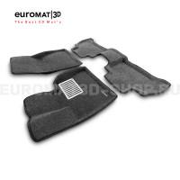 Текстильные 3D коврики Euromat3D Lux в салон для Bmw X5 (G05) (2018-) № EM3D-001214G Серые