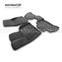 Текстильные 3D коврики Euromat3D Business в салон для Bmw X5 (G05) (2018-) № EMC3D-001214G Серые