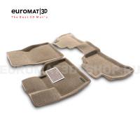 Текстильные 3D коврики Euromat3D Lux в салон для Bmw X6 (G06) (2018-) № EM3D-001227T Бежевые