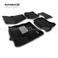 Текстильные 3D коврики Euromat3D Premium в салон для Porsche Cayenne (2010-2017) № EMPR3D-004101