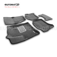 Текстильные 3D коврики Euromat3D Lux в салон для Porsche Cayenne (2010-2017) № EM3D-004101G Серые