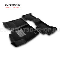 Текстильные 3D коврики Euromat3D Premium в салон для Toyota Land Cruiser Prado 150 (2010-2014) № EMPR3D-005115
