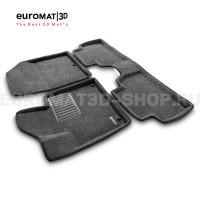 Текстильные 3D коврики Euromat3D Business в салон для Hyundai Santa Fe (2018-) № EMC3D-002704G Серые