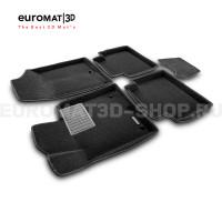 Текстильные 3D коврики Euromat3D Premium в салон для Hyundai Sonata (2017-) № EMPR3D-002929