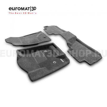 Текстильные 3D коврики Euromat3D Business в салон для Chevrolet Tahoe (2015-2021) № EMC3D-001306G Серые