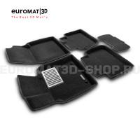 Текстильные 3D коврики Euromat3D Lux в салон для Lexus ES (2019-) № EM3D-005101