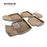 Текстильные 3D коврики Euromat3D Lux в салон для Lexus ES (2019-) № EM3D-005101T Бежевые