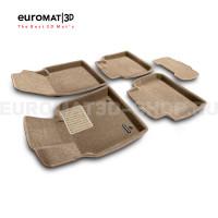 Текстильные 3D коврики Euromat3D Business в салон для Lexus ES (2019-) № EMC3D-005101T Бежевые