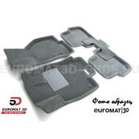 Текстильные 3D коврики Euromat3D Business в салон для Honda CR-V (2006-2012) № EMC3D-002606G Серые