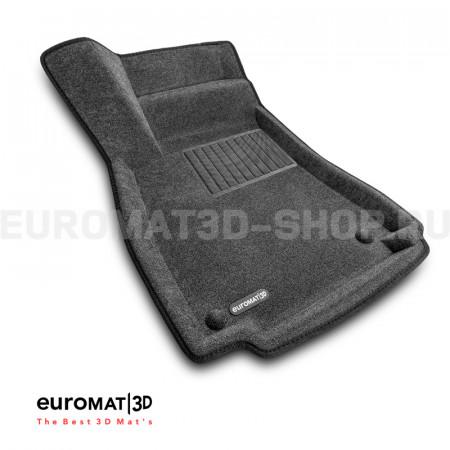Текстильные 3D коврики Euromat3D Business в салон для Audi A4 (2016-) № EMC3D-001102G Серые