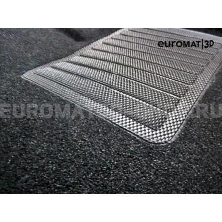 Текстильные 3D коврики Euromat3D Business в салон для Audi A7 (2019-) № EMC3D-001111