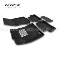 Текстильные 3D коврики Euromat3D Lux в салон для Mercedes CLA-Class (C118) (2019-) № EM3D-003510