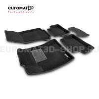 Текстильные 3D коврики Euromat3D Business в салон для Mercedes CLA-Class (C118) (2019-) № EMC3D-003510