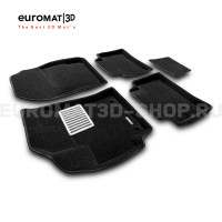 Текстильные 3D коврики Euromat3D Lux в салон для Toyota Corolla (2019-) № EM3D-005106