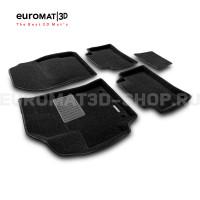 Текстильные 3D коврики Euromat3D Lux в салон для Toyota Corolla (2019-) № EMC3D-005106