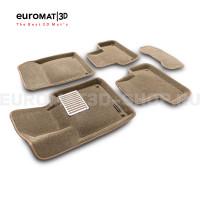 Текстильные 3D коврики Euromat3D Lux в салон для Volvo S 60 (2019-) № EM3D-005502T Бежевый
