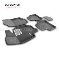 Текстильные 3D коврики Euromat3D Lux в салон для Toyota Rav 4 (2019-) (АКПП) № EM3D-005105G Серые
