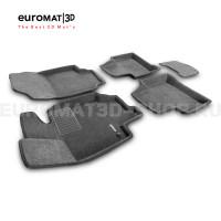 Текстильные 3D коврики Euromat3D Business в салон для Toyota Rav 4 (2019-) (АКПП) № EMC3D-005105G Серые