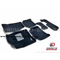 Текстильные 3D коврики Euromat3D Business в салон для Audi Q7 (2005-2014) (3 ряд) № EMC3D-001105.1