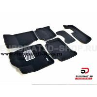 Текстильные 3D коврики Euromat3D Lux в салон для Audi Q7 (2005-2014) (3 Ряд) № EM3D-001105.1