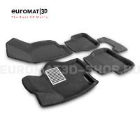 Текстильные 3D коврики Euromat3D Lux в салон для Volkswagen Passat CC (2009-) № EM3D-005412G Серые
