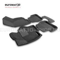 Текстильные 3D коврики Euromat3D Business в салон для Volkswagen Passat CC (2009-) № EMC3D-005412G Серые