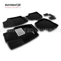 Текстильные 3D коврики Euromat3D Lux в салон для Volkswagen Polo (2020-) № EM3D-004508