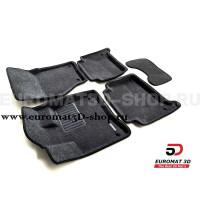 Текстильные 3D коврики Euromat3D Business в салон для Audi Q7 (2005-2014) № EMC3D-001105G Серые