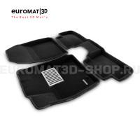 Текстильные 3D Коврики Euromat3D Lux cалон для Kia XCeed (2020-) № EM3D-002902