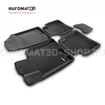 3D коврики Euromat3D EVA в салон для Hyundai Sonata (2017-) № EM3DEVA-002929