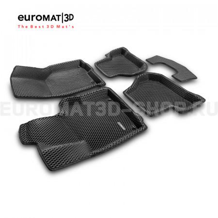 3D коврики Euromat3D EVA в салон для Volkswagen Golf Plus (2004-2014) № EM3DEVA-004502