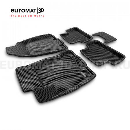 3D коврики Euromat3D EVA в салон для Nissan X-Trail (T31) (2007-2014) № EM3DEVA-003721