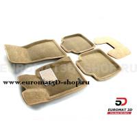 Текстильные 3D коврики Euromat3D Lux в салон для Bmw 3 GT (F34) № EM3D-001216T Бежевые