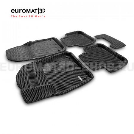3D коврики Euromat3D EVA в салон для Volkswagen Touareg (2018-) № EM3DEVA-004106