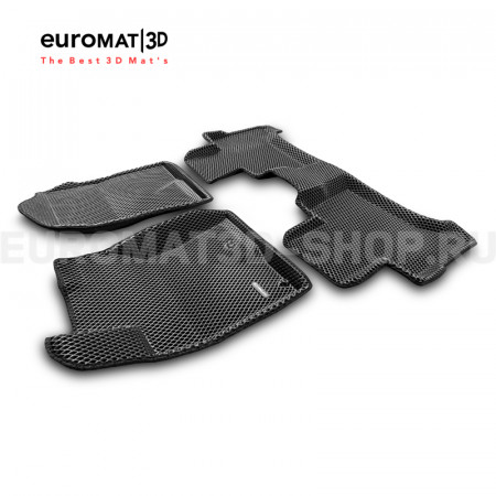 3D коврики Euromat3D EVA в салон для Toyota Land Cruiser Prado 120 (2003-2010) № EM3DEVA-005121