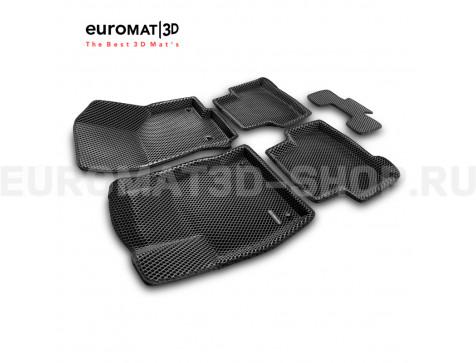 3D коврики Euromat3D EVA в салон для Audi Q3 (2020-) № EM3DEVA-001115
