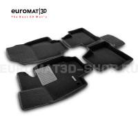 Текстильные 3D коврики Euromat3D Premium в салон для Toyota Rav 4 (2019-) (АКПП) № EMPR3D-005105