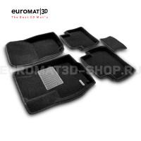 Текстильные 3D коврики Euromat3D Premium в салон для Mitsubishi Outlander XL (2006-2012) № EMPR3D-003609
