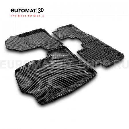 3D коврики Euromat3D EVA в салон для Honda CR-V (2006-2012) № EM3DEVA-002606