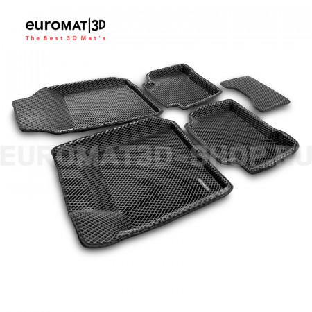 3D коврики Euromat3D EVA в салон для Renault Latitude (2010-) № EM3DEVA-003718