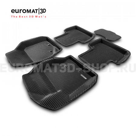 3D коврики Euromat3D EVA в салон для Volvo XC 90 (2002-2014) № EM3DEVA-005508