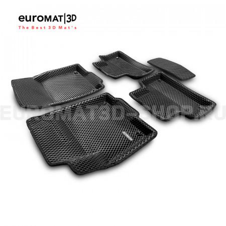 3D коврики Euromat3D EVA в салон для Land Rover Range Rover Evoque (2011-2018) № EM3DEVA-003103