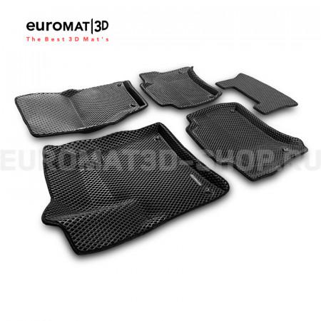 3D коврики Euromat3D EVA в салон для Porsche Cayenne (2010-2017) № EM3DEVA-004101