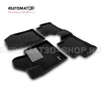 Текстильные 3D коврики Euromat3D Business в салон для Kia Sorento (2020-) № EMC3D-002900