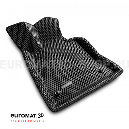 3D коврики Euromat3D EVA в салон для Mercedes GLK-Class (X204) (2009-2014) № EM3DEVA-003511