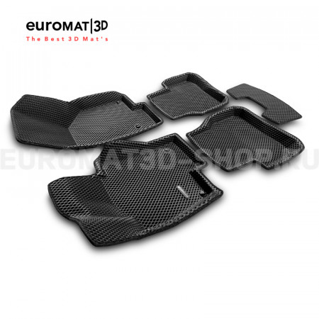3D коврики Euromat3D EVA в салон для Volkswagen Passat B6 (2005-2011) № EM3DEVA-005412