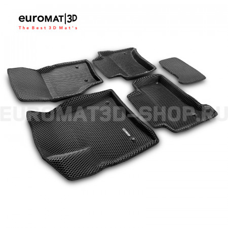 3D коврики Euromat3D EVA в салон для Porsche Cayenne (2002-2009) № EM3DEVA-004100