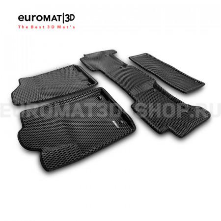 3D коврики Euromat3D EVA в салон для Infiniti QX56, QX80 (2010-2015-) № EM3DEVA-002813