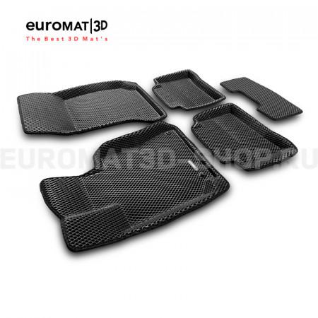 3D коврики Euromat3D EVA в салон для Mercedes E-Class (W212) (2009-2016) № EM3DEVA-003505